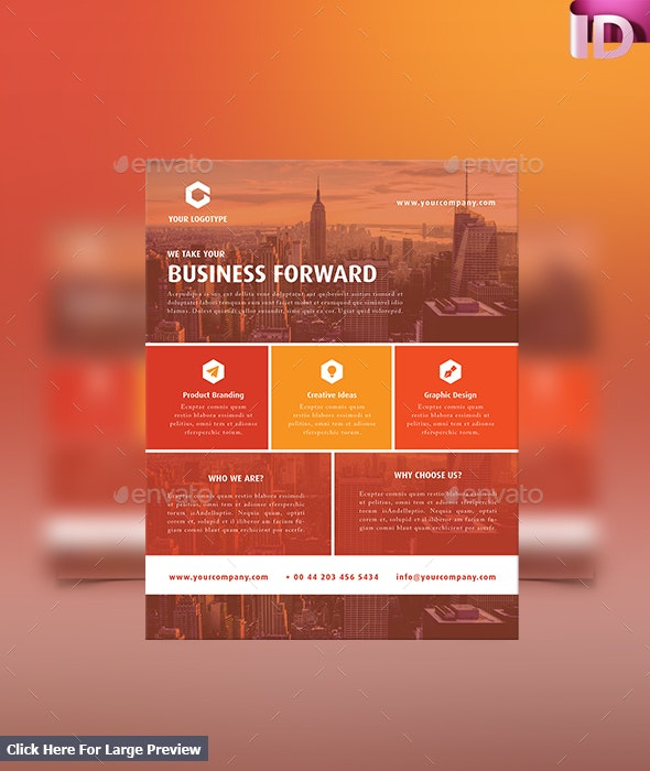 Corporate/Business Flyer Template 05 - Corporate Flyers