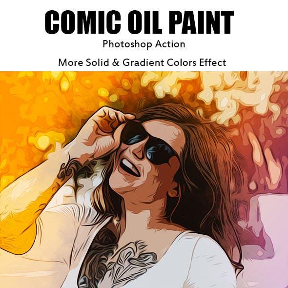 Cartoon Comic Oil Paint