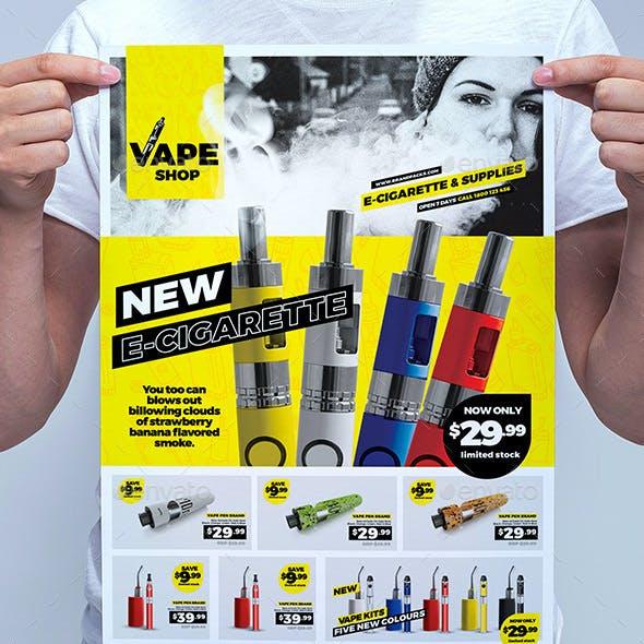 Vape Shop Poster Template