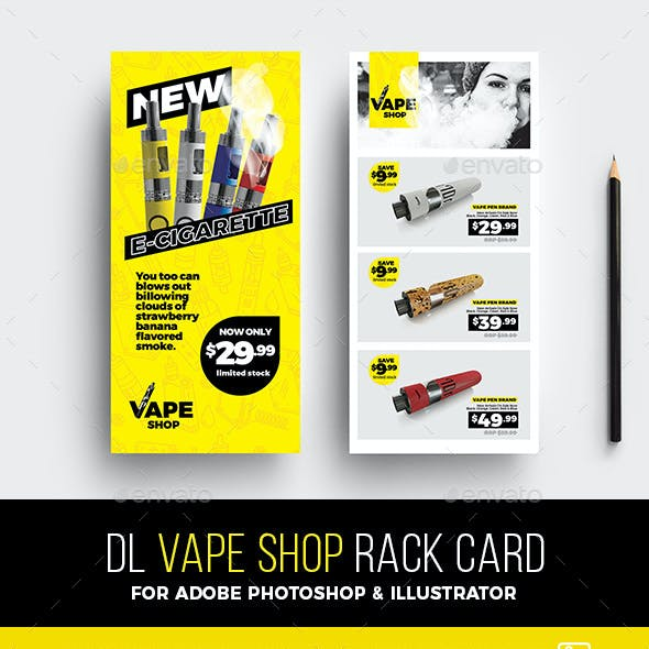 DL Vape Shop Rack Card Template