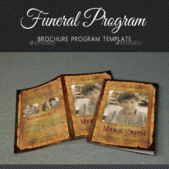 Funeral Program Brochure Template V06