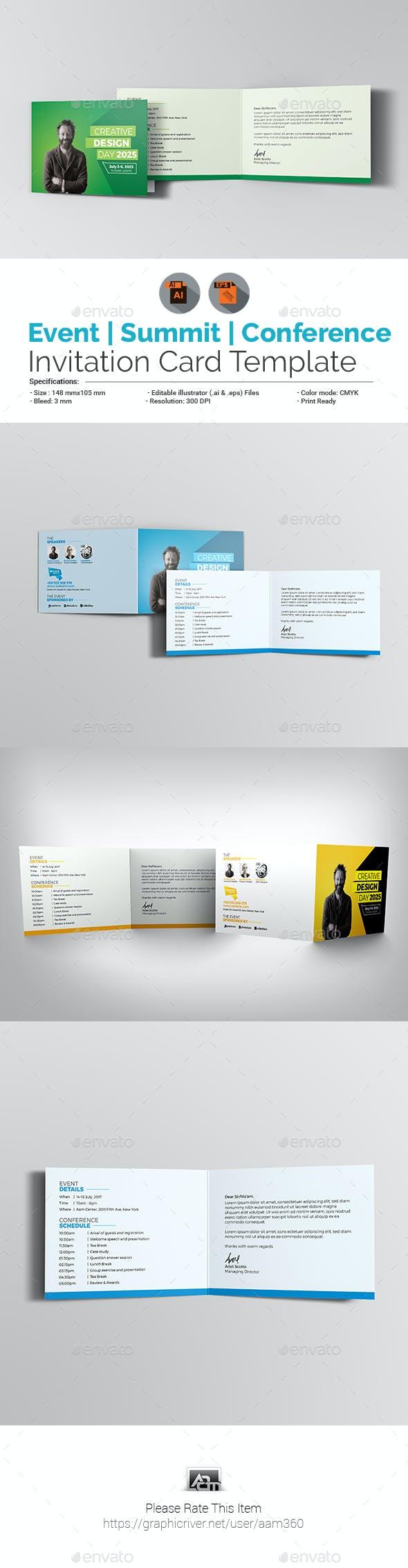 Event Summit Conference Invitation Card