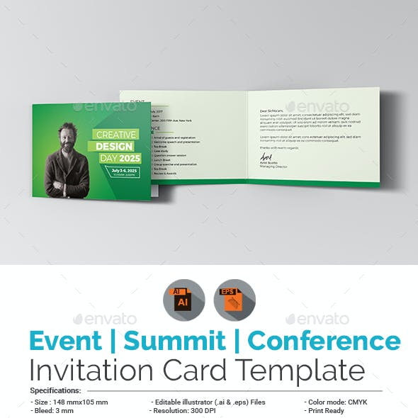 Event / Summit / Conference Invitation Card Template