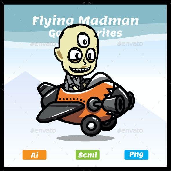 Flying Madman Game Asset