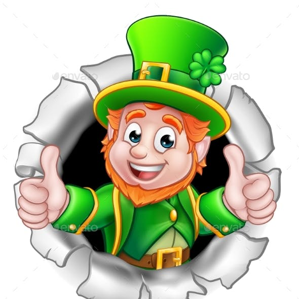 St Patricks Day Leprechaun Breaking Background