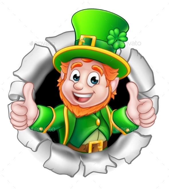 St Patricks Day Leprechaun Breaking Background by Krisdog ...
