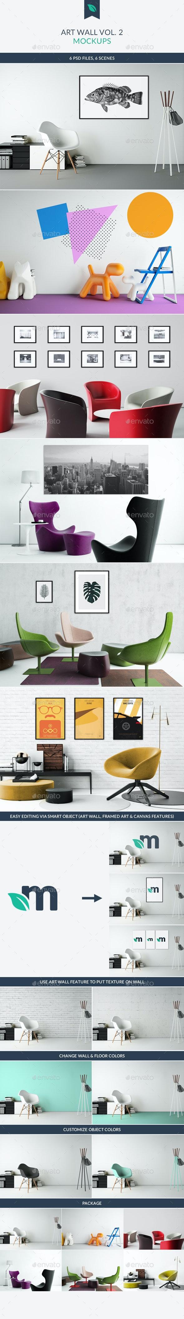 Art Wall Mockups Vol.2 - Miscellaneous Product Mock-Ups