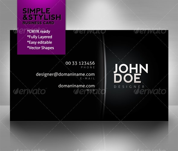 Simple & stylish business card - Corporate Business Cards