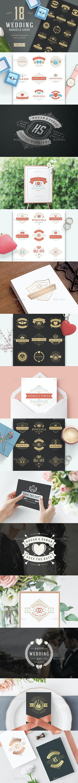 18 Wedding Logos and Badges - Badges & Stickers Web Elements