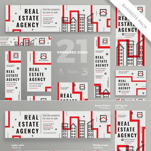 Real Estate Agency Banner Pack