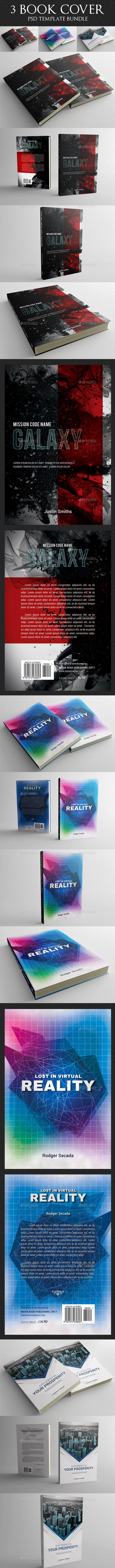 3 in 1 Book Cover Template Bundle 09