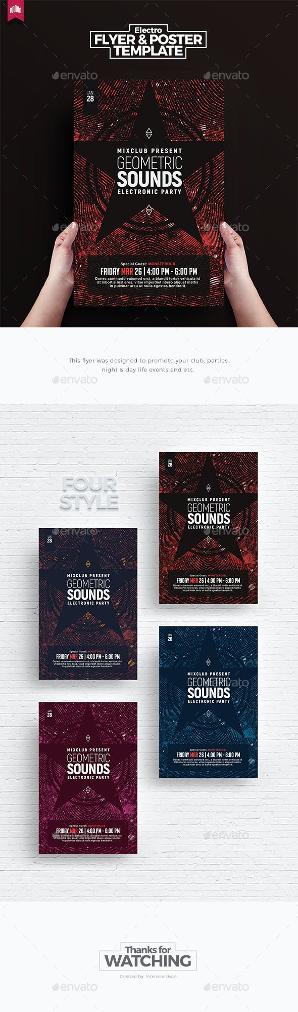 Geometric Sound - Flyer Template