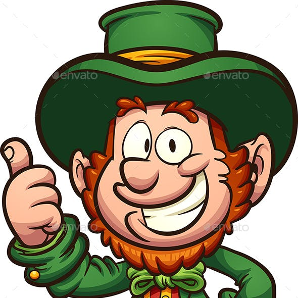 Happy Cartoon Leprechaun