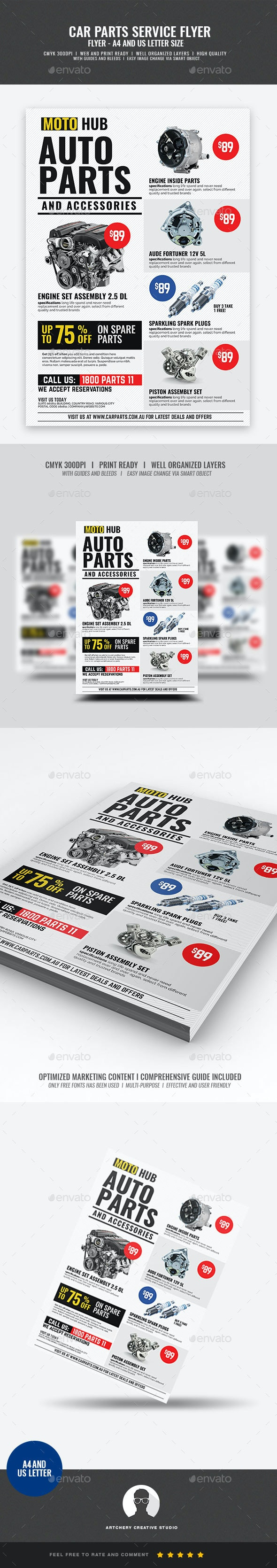 Auto Supply Center Flyer - Corporate Flyers