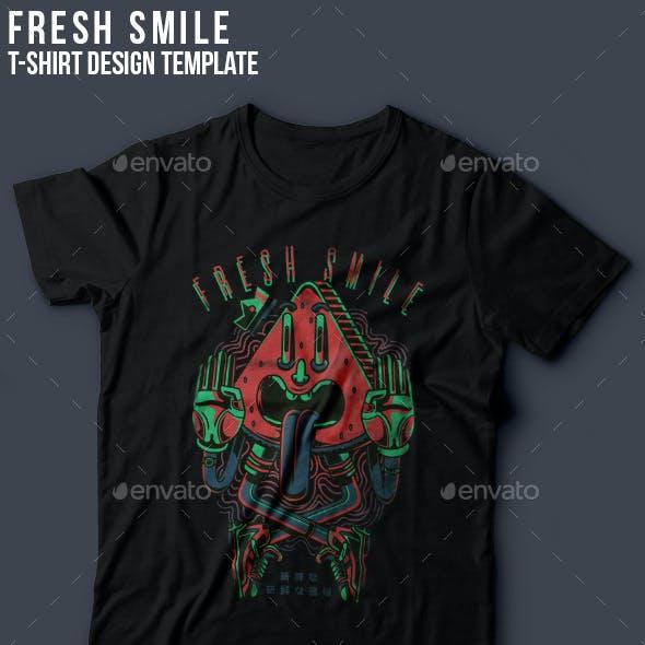 Fresh Smile T-Shirt Design