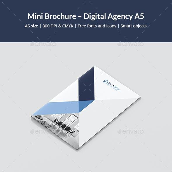 Mini Brochure – Digital Agency A5