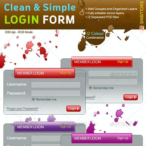 Clean & Simple Login Form