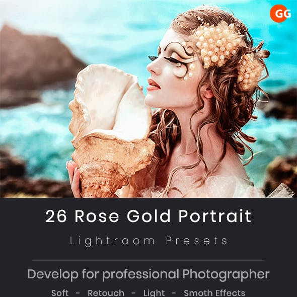 26 Rose Gold Portrait Lightroom Preset