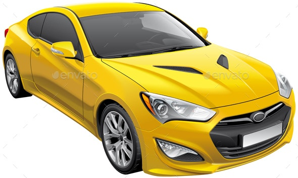 Korean Sports Coupe - Man-made Objects Objects