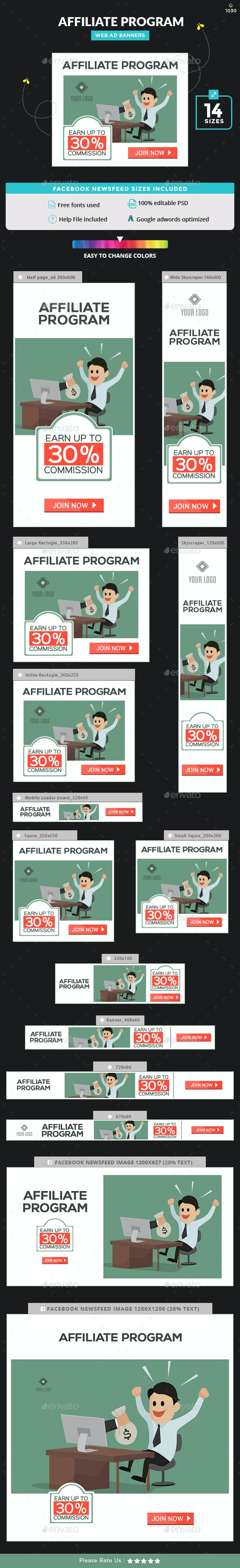 Web Banner Design for Affiliate Program - Image Included. - Banners & Ads Web Elements