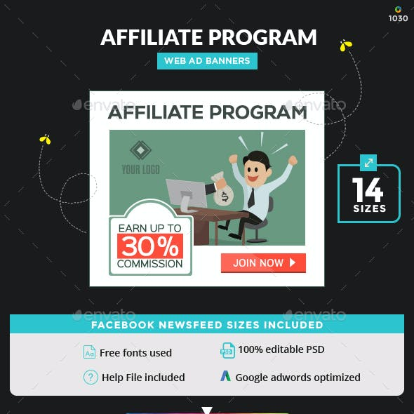 Web Banner Design for Affiliate Program - Image Included.