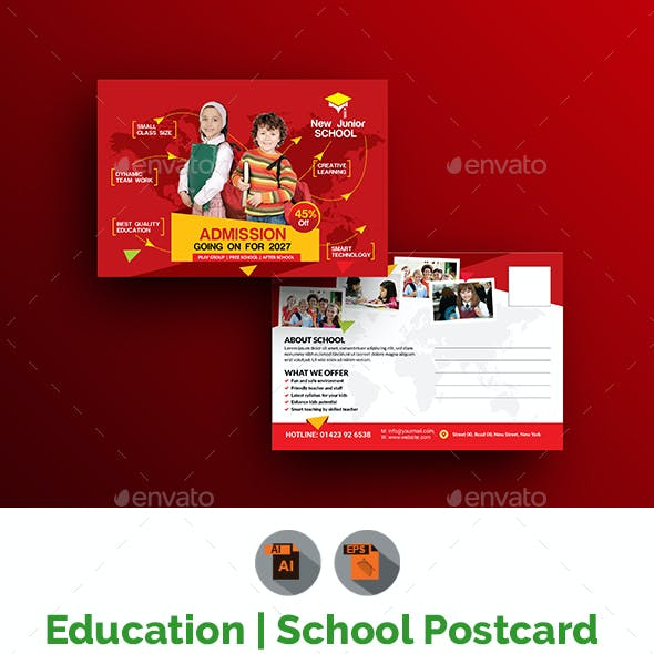 Junior School Promotional Postcard Template