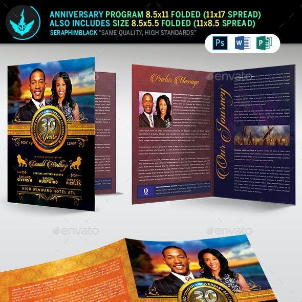 Royal Church Anniversary Program Template