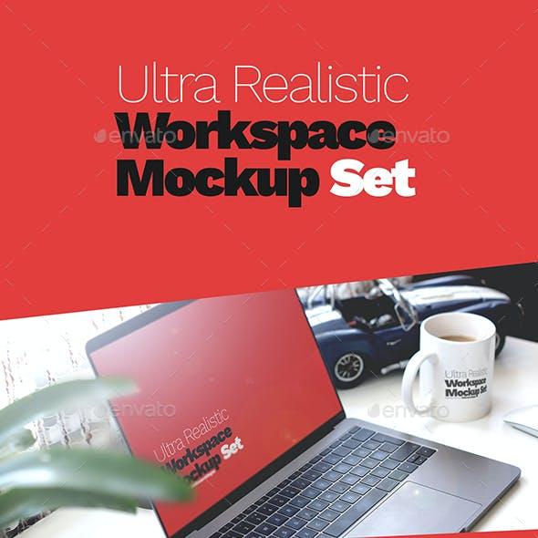 Ultra Realistic Workspace Mockup Set - 2