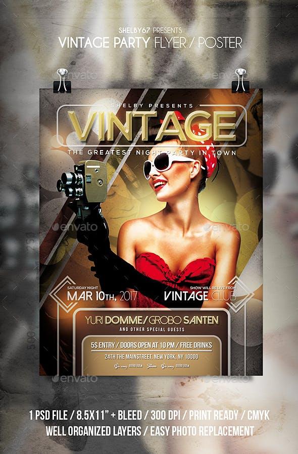 Vintage Party Flyer