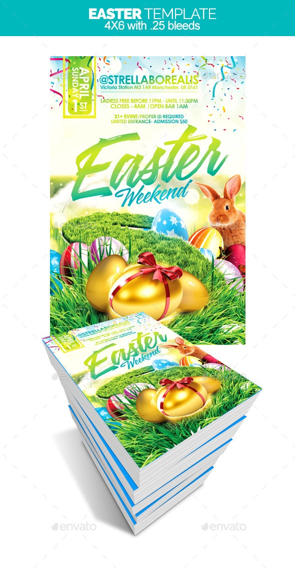 Easter Weekend - Flyers Print Templates