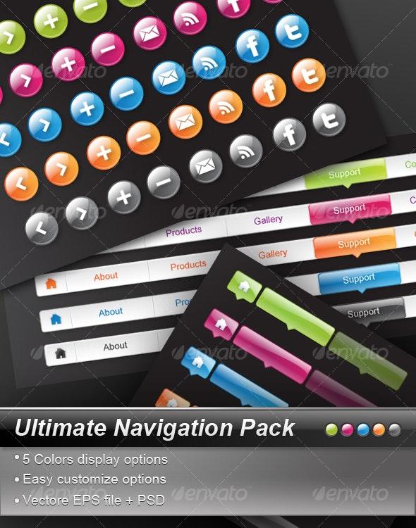 Ultimate Navigation Pack - Web Elements