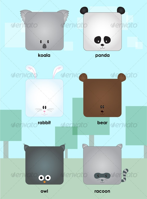 Cute forest animals - Animals Characters