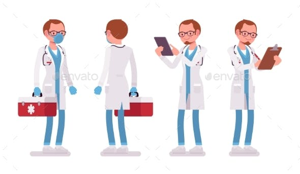 Male Doctor Standing Pose