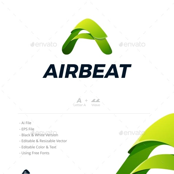 Airbeat Logo - Letter A