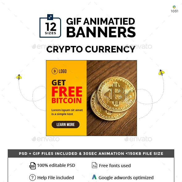 Crypto Currency Animated GIF Banner Set