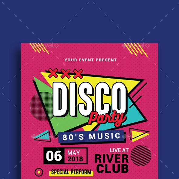 Retro Music Disco Party