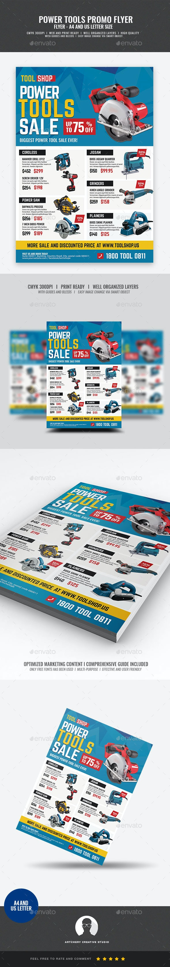 Power Tools Sale Flyer - Commerce Flyers