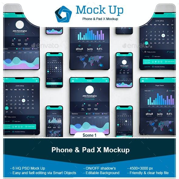Phone & Pad X Mockup