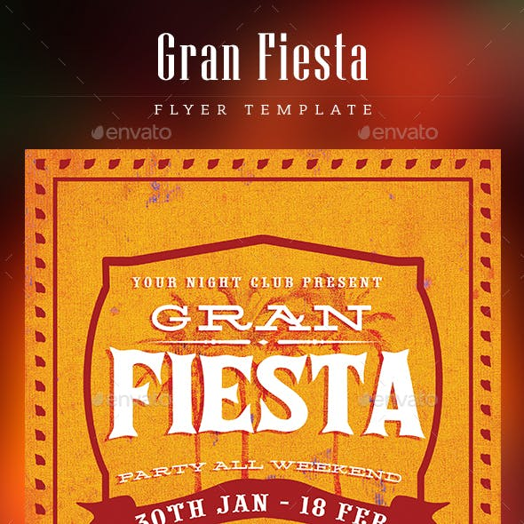 Gran Fiesta Flyer Template