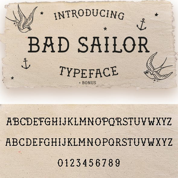 Bad Sailor Tattoo Font