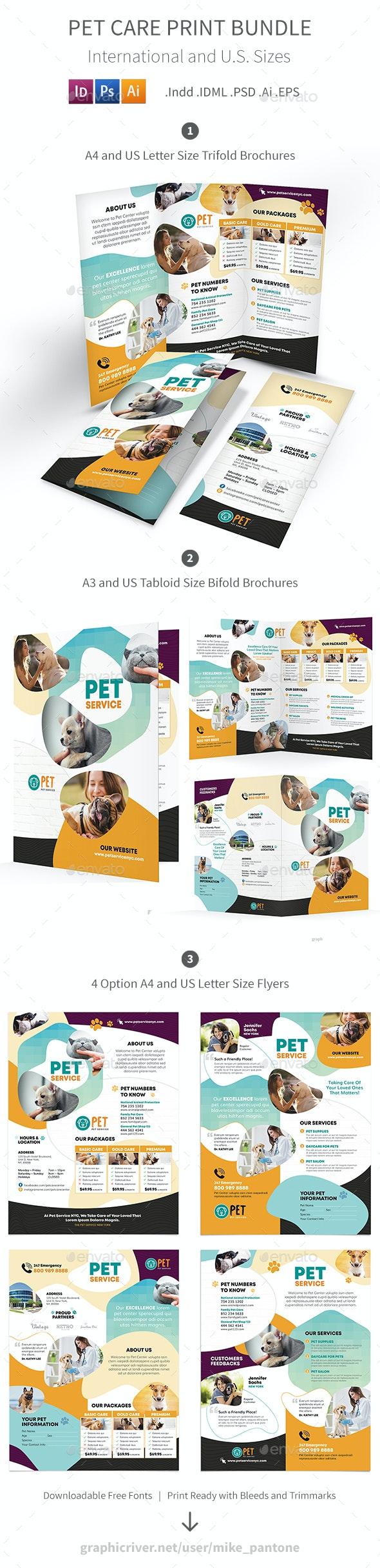 Pet Care Print Bundle 7 - Informational Brochures