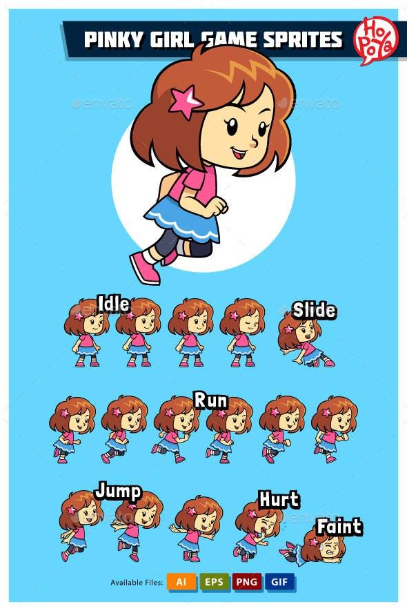 Pinky Girl Game Sprites