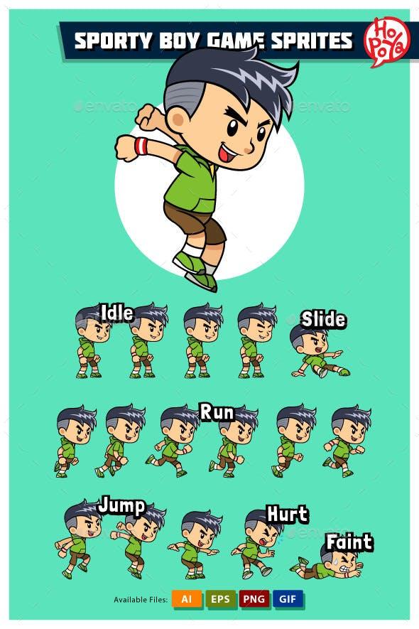 Sporty Boy Game Sprites