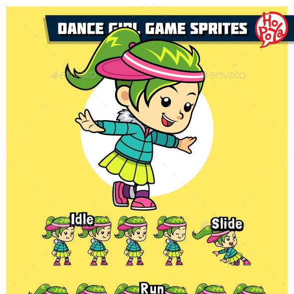 Dance Girl Game Sprites