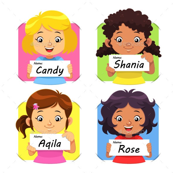 Girls Name 01 - People Characters