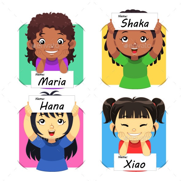 Girls Name 02 - People Characters