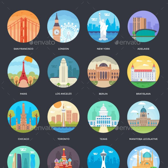 125+ World Cities Illustrations