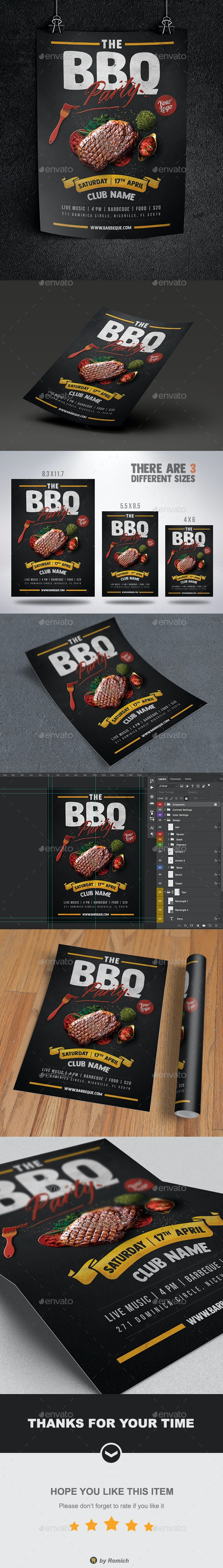 The BBQ Party Flyer - Clubs & Parties Events