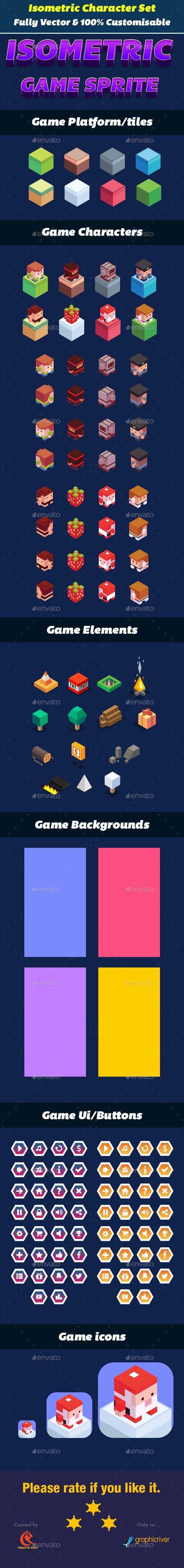 Isometric Game Character UI