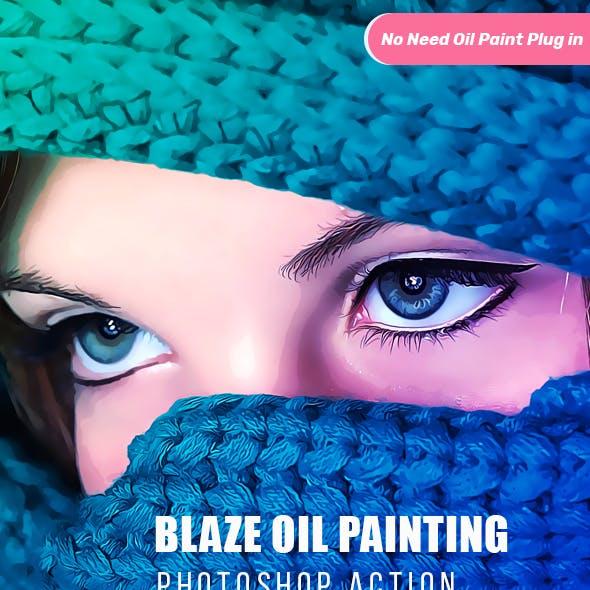 Blaze Oil Painting Action CS & CC